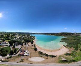 Vue 360° sur le lac de Clairvaux-les-lacs