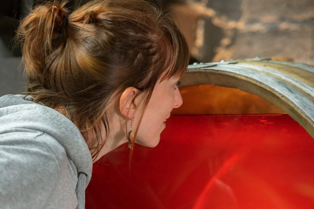 Tonneau de Vin Jaune avec voile de levures © Stéphane Godin / Jura Tourisme