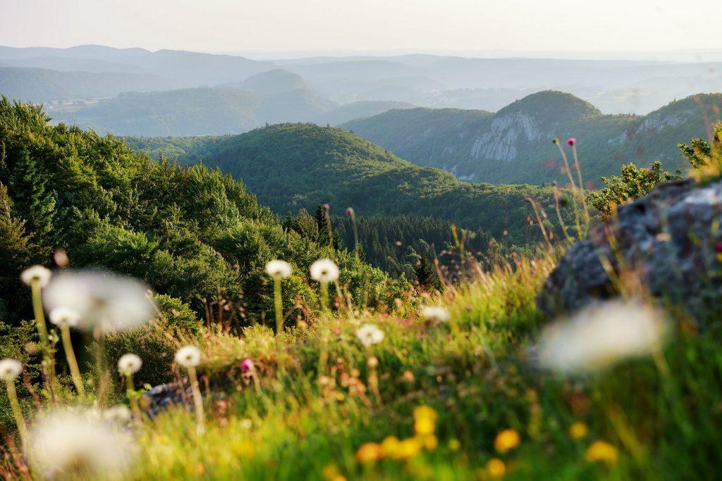 Vue depuis le belvédère du Bulay à Foncine-le-Haut, © Stéphane Godin/Jura Tourisme
