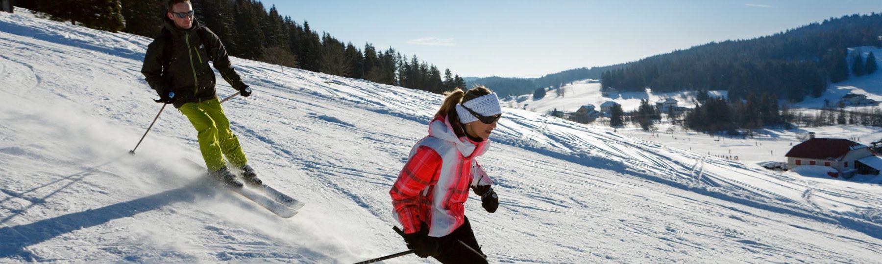 Ski de descente aux Jouvencelles © Stéphane Godin/Jura Tourisme