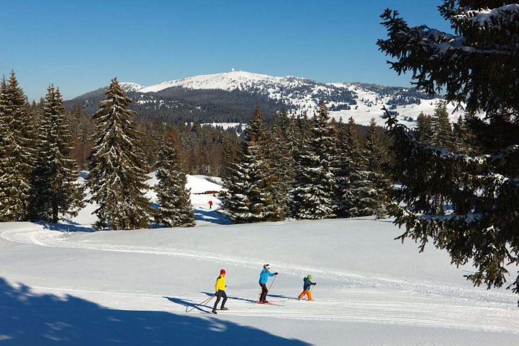 Ski nordique en famille au pied de la Dôle