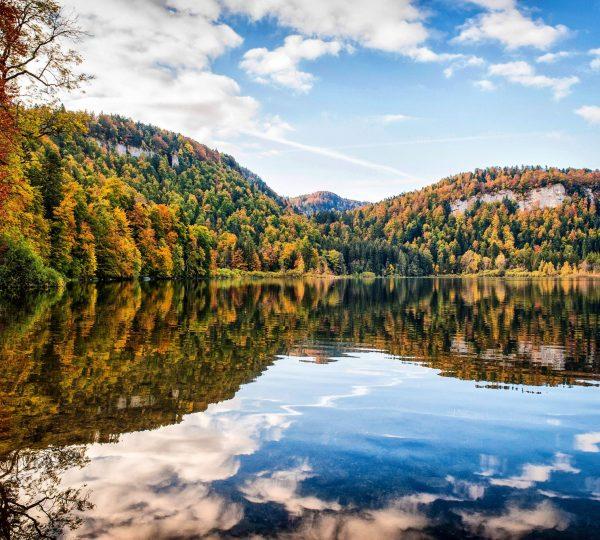 Lac de Bonlieu en Automne