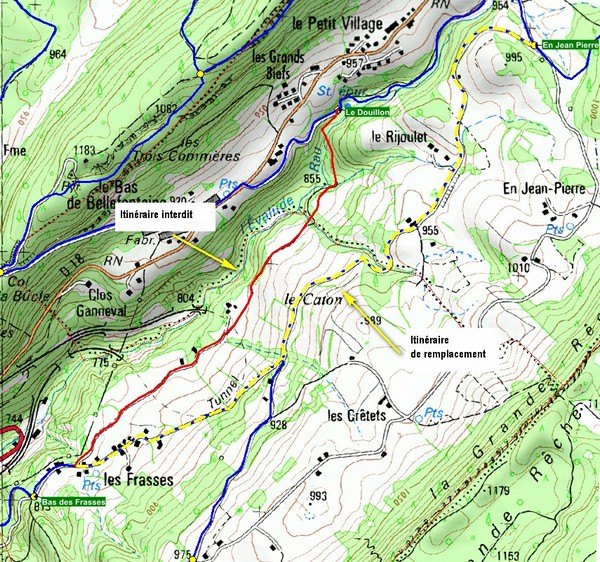 modification parcours Pont Basset