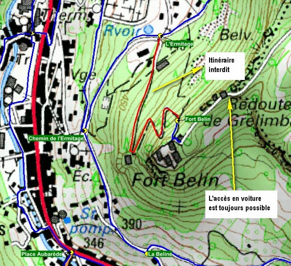 modification parcours Fort Belin