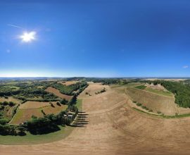 Vue 360° de Arlay, Petite Cité Comtoise de Caractère