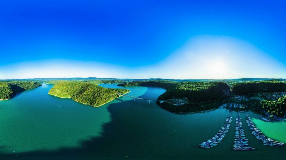 Vue 360° du Lac de Vouglans - Pont de la Pyle