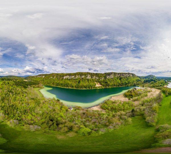 Vue 360° du belvédère des 4 lacs