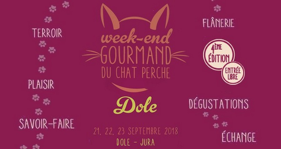 Affiche Week-end Gourmand du Chat Perché