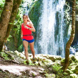 Trail à la cascade du Bief de la Chaille