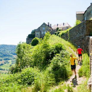 Trail à Château-Chalon