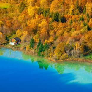 Le lac du Grand Maclu à l'Automne