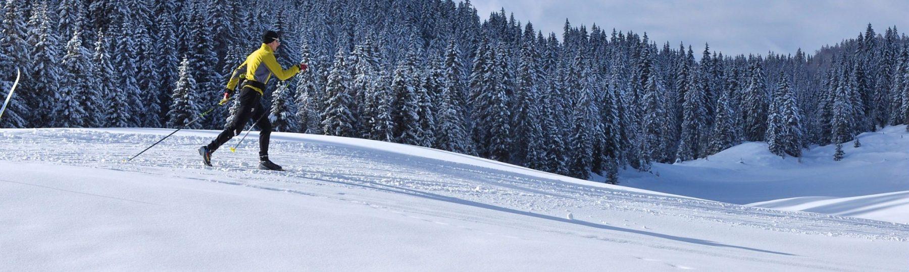 Skieur en classique dans le Haut-Jura © Jack Carrot/Jura Tourisme