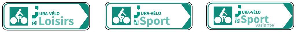 Panneaux tour du Jura à vélo