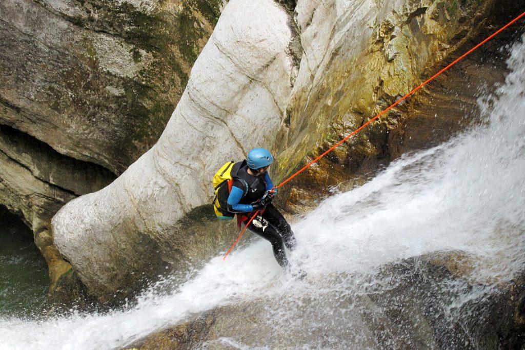 Canyoning à Coiserette © Comité départemental de spéléologie du Jura