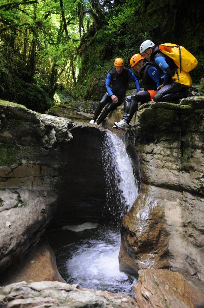 Canyoning dans les gorges de Malvaux © Horizon Canyon