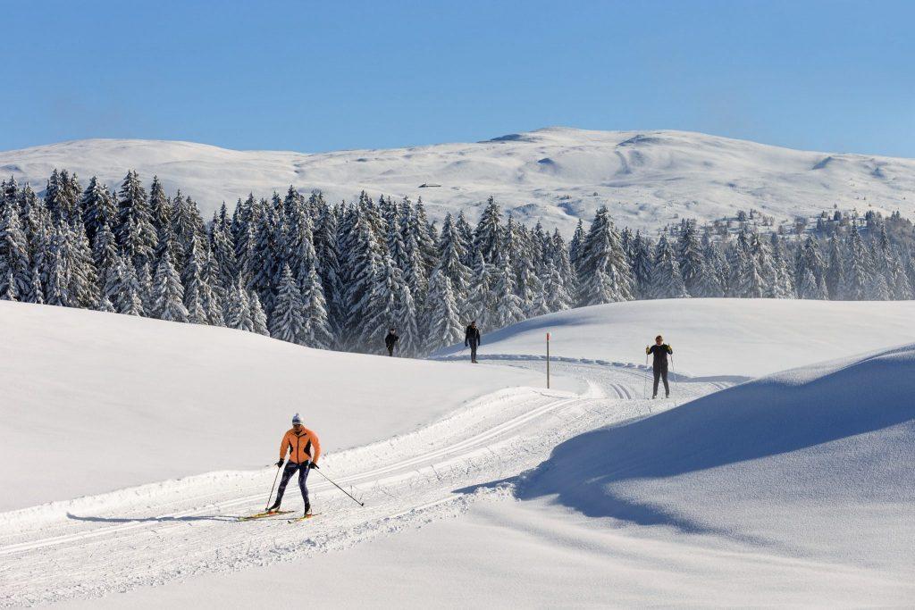 Ski nordique dans les Hautes-Combes © Stéphane Godin/Jura Tourisme