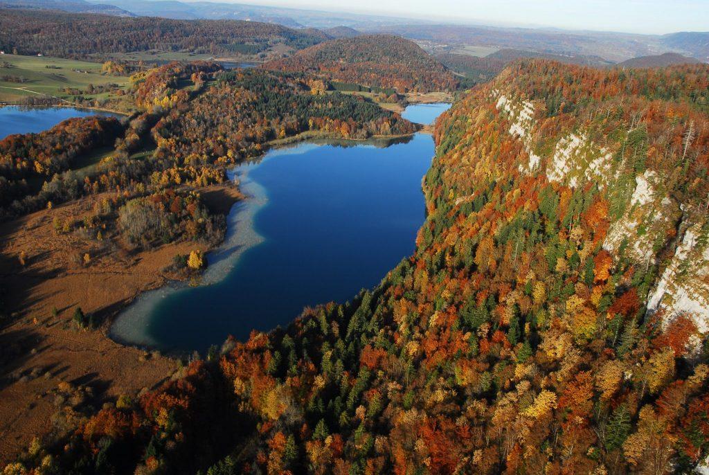 Vue de la région des 4 lacs © Jf Putod Ulm Alizé/Jura Tourisme