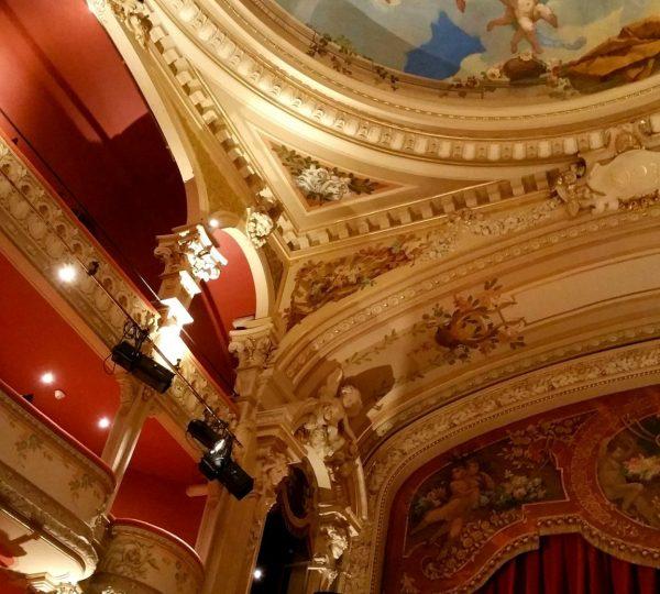 Plafond du théâtre à l'Italienne de Lons-le-Saunier © Jura Tourisme