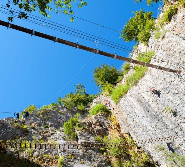 Via Ferrata de la Roche au Dade à Morez