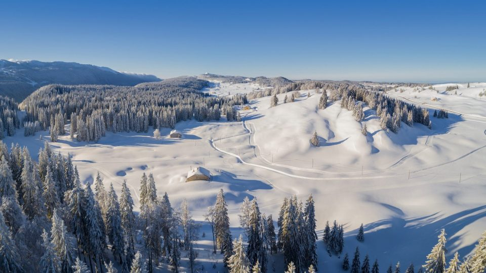 Vue des Hautes Combes en drone