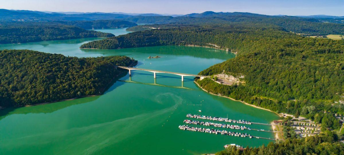 Pont de la Pyle et Lac de Vouglans