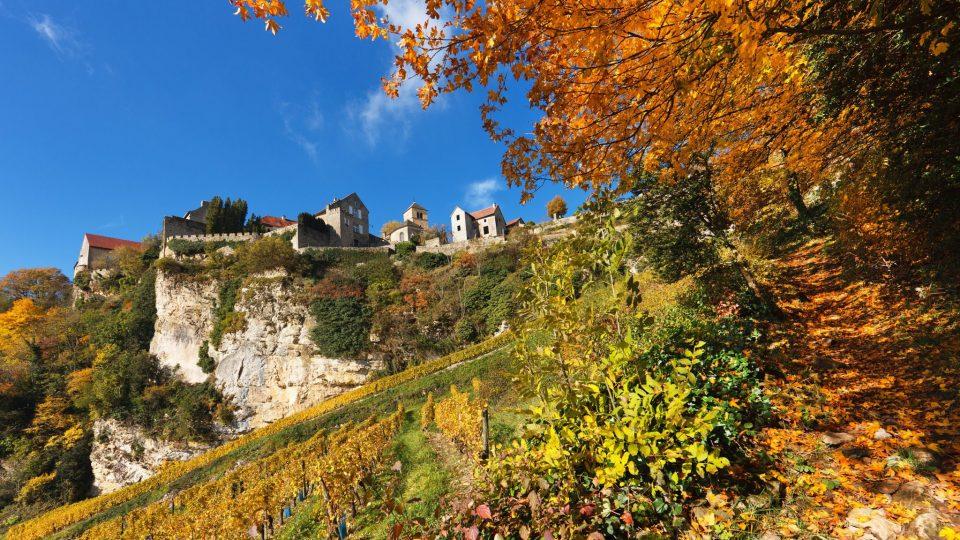 Vigne et village de Château-Chalon © Stéphane Godin/Jura Tourisme