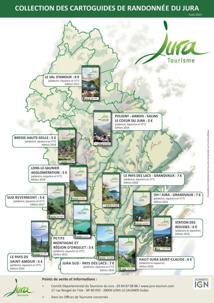 carte touristique du jura Carte randonnée Jura, Tuto et cartoguides   Jura Tourisme