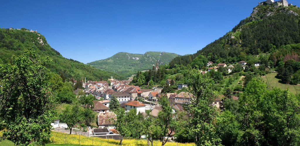 Vue sur Salins-les-Bains, © Stéphane Godin/Jura Tourisme