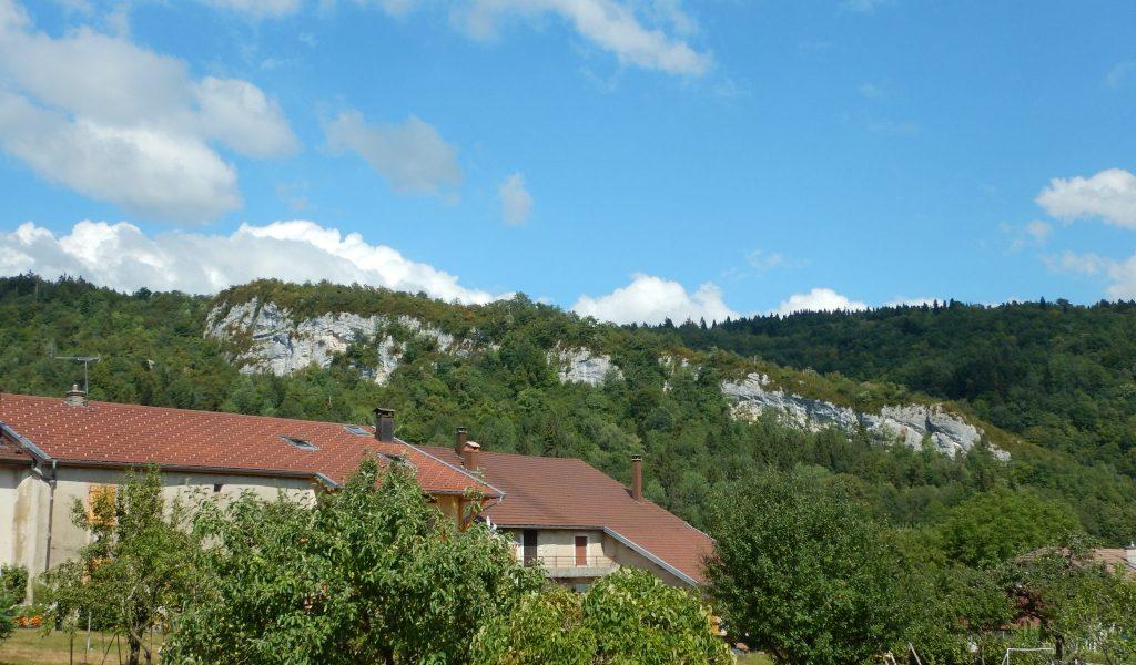 Falaise naturelle d'escalade de Crenans © Conseil départemental du Jura