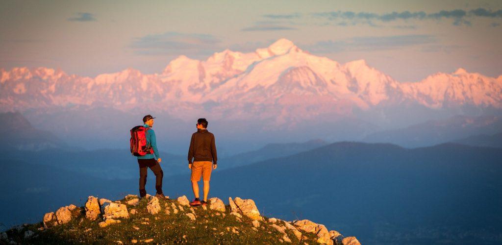 Vue sur le Mont Blanc © Benjamin Becker/Jura Tourisme